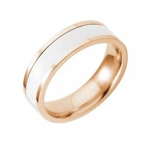 Other - Tungsten Carbide White & Gold Ring / Band Size: 8